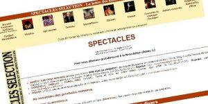 Site Web Spectacles Sélection