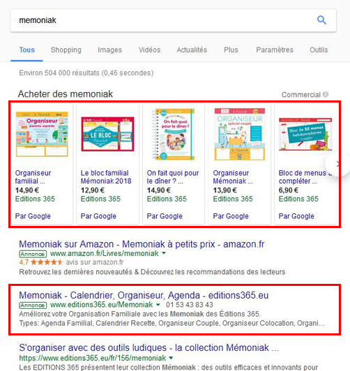 Double affichage sur Google Adwords et Google Shopping
